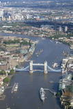 Aerial View of Tower Bridge and River Thames, London, England, United Kingdom, Europe Photographic Print by Peter Barritt