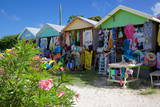 Vendors' Stalls, Long Bay, Antigua, Leeward Islands, West Indies, Caribbean, Central America Photographic Print by Frank Fell