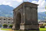 Arch of Augustus, Aosta, Aosta Valley, Italian Alps, Italy, Europe Photographic Print by Nico Tondini