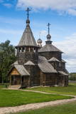 Wooden Church in the Museum of Wooden Architecture, Suzdal, Golden Ring, Russia, Europe Photographic Print by Michael Runkel