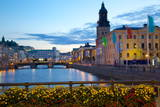 Town Hall and Canal at Dusk, Gothenburg, Sweden, Scandinavia, Europe Photographic Print by Frank Fell