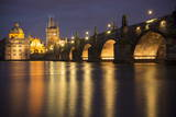 Charles Bridge and River Vltava, Prague, UNESCO World Heritage Site, Czech Republic, Europe Photographic Print by Ben Pipe