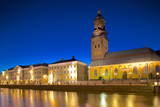 Museum and Church at Night, Gothenburg, Sweden, Scandinavia, Europe Photographic Print by Frank Fell