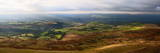 A Panoramic Landscape View Near Hay Bluff, Powys, Wales, United Kingdom, Europe Photographic Print by Graham Lawrence