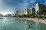 High Rise Hotels on Waikiki Beach, Oahu, Hawaii, United States of America, Pacific Photographic Print by Michael Runkel