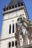 Statue Outside Basilica of St. Egidius in Radnicne Square Photographic Print by Ian Trower