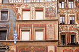 Painted Building Facades in the City of Lucerne, Switzerland, Europe Photographic Print by Julian Elliott