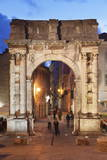 Illuminated Roman Triumphal Arch Photographic Print by Markus Lange