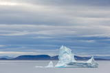 Pinnacled Iceberg in Isabella Bay, Baffin Island, Nunavut, Canada, North America Photographic Print by Michael Nolan