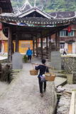 Dong Village of Zhaoxing, Guizhou Province, China, Asia Photographic Print by Bruno Morandi