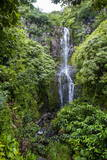 Makahiku Falls on the East Coast of Maui, Hawaii, United States of America, Pacific Photographic Print by Michael Runkel