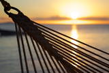 Hammock and Beach at Sunset Photographic Print by Frank Fell