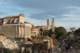 Roman Forum, UNESCO World Heritage Site, and the Palatine Hill, Rome, Lazio, Italy, Europe Photographic Print by Carlo Morucchio