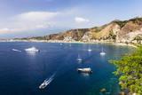 Giardini Naxos Bay, Boats in the Harbor at Taormina, Sicily, Italy, Mediterranean, Europe Photographic Print by Matthew Williams-Ellis
