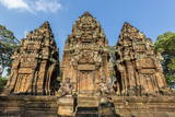 Banteay Srei Temple in Angkor Photographic Print by Michael Nolan