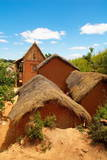 Traditional Houses on Hill around Tananarive, Madagascar, Africa Photographic Print by Bruno Morandi