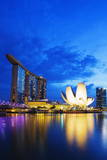 Marina Bay Sands Hotel and Arts Science Museum, Singapore, Southeast Asia, Asia Photographic Print by Christian Kober