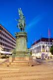 Statue on Ostra Larmgatan at Dusk, Gothenburg, Sweden, Scandinavia, Europe Photographic Print by Frank Fell