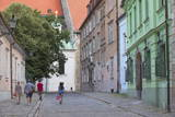 People Walking Along Kapitulska Street in Old Town, Bratislava, Slovakia, Europe Photographic Print by Ian Trower