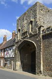 The Old Abbey Entrance and Medieval Timber Framed Houses Photographic Print by Peter Richardson