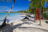 Beach and Red Telephone Box Fotodruck von Frank Fell