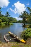 Dugout Canoe on the Wailua River. Kauai, Hawaii, United States of America, Pacific Photographic Print by Michael Runkel