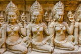 Apsara Carvings in the Leper King Terrace in Angkor Thom Photographic Print by Michael Nolan