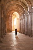 A Lady Slowly Walks Down an Aisle in the Basilique Sainte-Marie-Madeleine of Vezelay Photographic Print by Julian Elliott