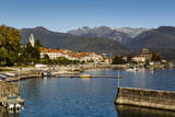 View over Baveno Town, Lake Maggiore, Italian Lakes, Piedmont, Italy, Europe Photographic Print by Yadid Levy