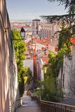 Looking Down onto the Rooftops of Vieux Lyon, Rhone, Rhone-Alpes, France, Europe Photographic Print by Julian Elliott