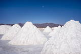 Salt Mounds Extracted from Salt Plains, Salar De Uyuni, Colchani, Bolivia, South America Photographic Print by Kim Walker
