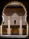 Intricate Islamic Design at Medersa Ben Youssef Photographic Print by Simon Montgomery