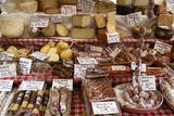 Cheese and Salamis at Papiniano Market, Milan, Lombardy, Italy, Europe Photographic Print by Yadid Levy
