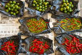 Red Chilli Peppers and Limes Photographic Print by Nico Tondini