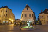Gutenberg Square at Dusk, Gyor, Western Transdanubia, Hungary, Europe Photographic Print by Ian Trower