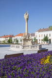 Trinity Column in Fo Square, Keszthely, Lake Balaton, Hungary, Europe Photographic Print by Ian Trower