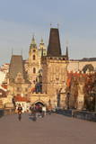 Charles Bridge and Mala Strana Bridge Tower in Morning Light Photographic Print by Markus Lange