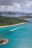 View over Hawksbill Bay, Antigua, Leeward Islands, West Indies, Caribbean, Central America Photographie par Frank Fell