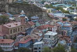 View of Old Town and Narikala Fortress, Tbilisi, Georgia, Caucasus, Central Asia, Asia Photographic Print by Jane Sweeney