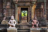 Banteay Srei Temple in Angkor Reprodukcja zdjęcia autor Michael Nolan