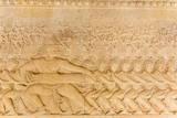 Bas-Relief Frieze at Angkor Wat Reprodukcja zdjęcia autor Michael Nolan
