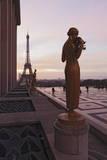Trocadero and Eiffel Tower at Sunrise, Paris, Ile De France, France, Europe Photographic Print by Markus Lange