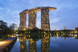 Marina Bay Sands Hotel, Singapore, Southeast Asia, Asia Photographic Print by Christian Kober