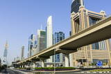 Elevated Metro Track on Sheikh Zayed Road, Dubai, United Arab Emirates, Middle East Photographic Print by Amanda Hall