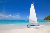 Beach and Hobie Cat, Long Bay, Antigua, Leeward Islands, West Indies, Caribbean, Central America Photographic Print by Frank Fell