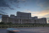 Palace of Parliament at Dusk, Bucharest, Romania, Europe Photographic Print by Ian Trower