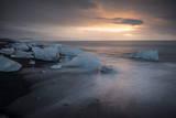 Icebergs on Bbeach, Jokulsarlon, Iceland, Polar Regions Photographic Print by Ben Pipe
