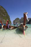 Maya Bay with Long-Tail Boats, Phi Phi Lay, Krabi Province, Thailand, Southeast Asia, Asia Photographic Print by Stuart Black