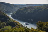 View over the River Danube Breakthrough Near Weltenburg Monastery, Bavaria, Germany, Europe Photographic Print by Michael Runkel