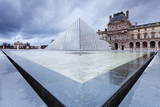 Louvre Museum and Pyramid, Paris, Ile De France, France, Europe Photographic Print by Markus Lange